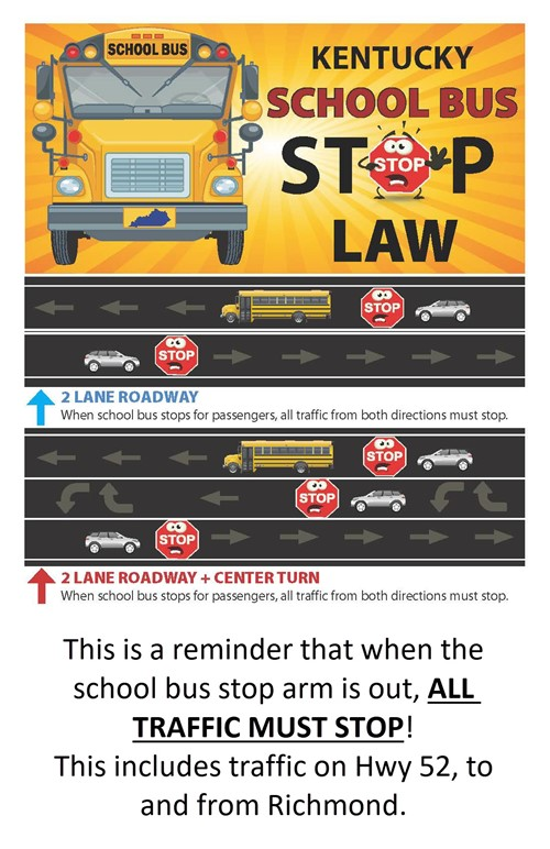 Stop for school buses image