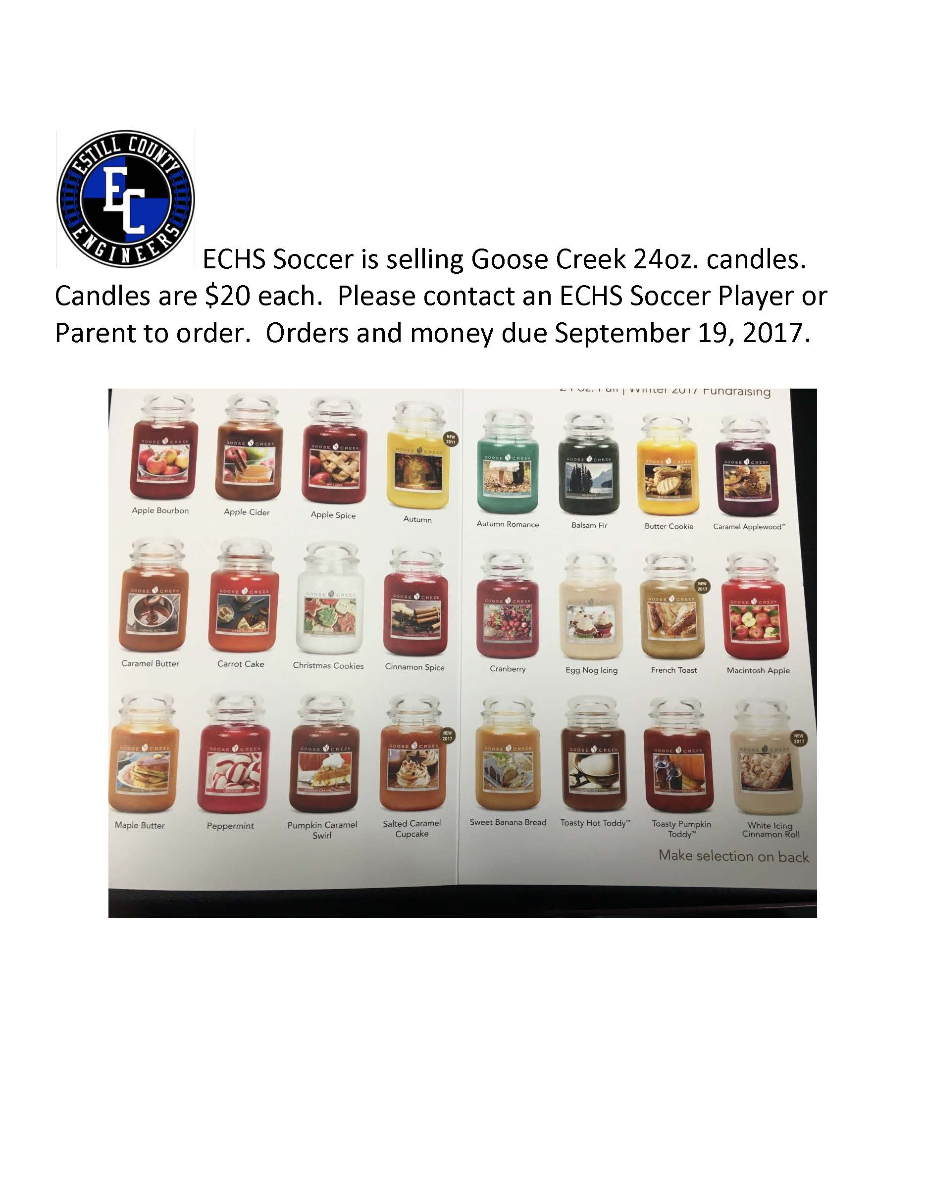Soccer Goose Creek Candle Sale